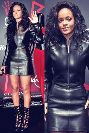 Rihanna attends Charity T-Shirt release with Hard Rock Cafe Paris