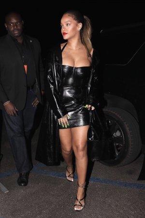 Rihanna attends Jay-Z's concert