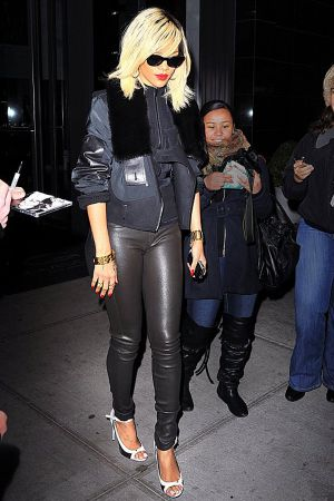 Rihanna headed to a nightclub in New York