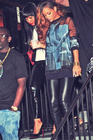 Rihanna leaves Magic City nightclub in Atlanta