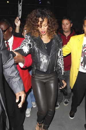 Rihanna leaves the Staples Center in LA
