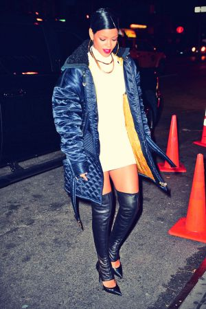 Rihanna spotted out in NYC celebrating her brother Rorrey's birthday