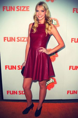 Riki Lindhome arrives to the premiere of Paramount Pictures Fun Size