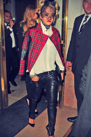 Celebrities in Leather Skinny Pants