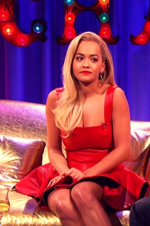 Rita Ora appearing on Alan Carr Chatty Man