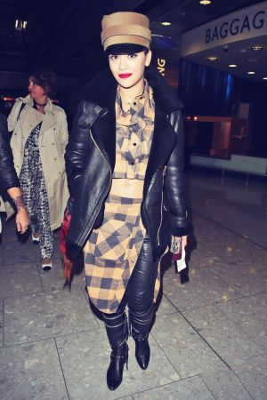 Rita Ora arrived back in London from Radio 1's Big Weekend