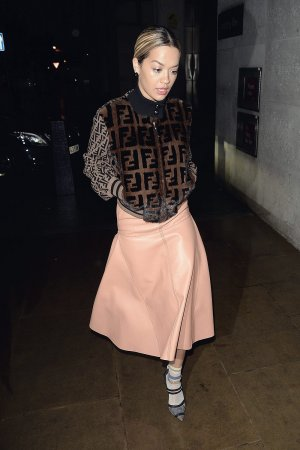 Rita Ora arrives at BBC Radio 1 Studio