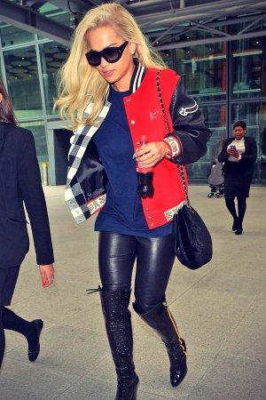 Rita Ora arrives at Heathrow Airport