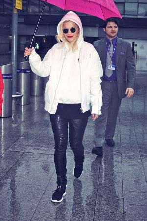 Rita Ora arrives at Heathrow Airport from LA
