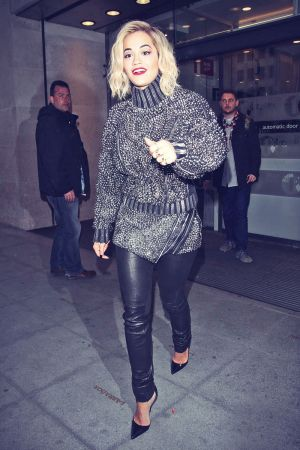 Rita Ora arrives at the BBC Radio One Studios