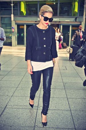 Rita Ora arriving At Heathrow Airport In London