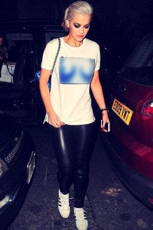 Rita Ora arriving at her home in London