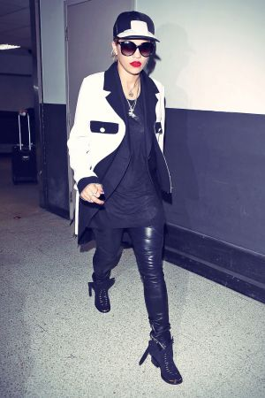 Rita Ora arriving at LAX airport