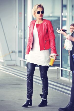 Rita Ora at JFK airport in NYC