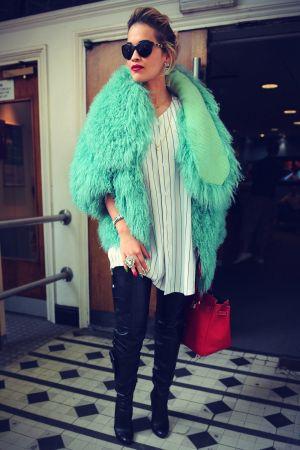 Rita Ora at the BBC Maida Vale studio