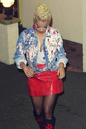 Rita Ora at X Factor studios in London