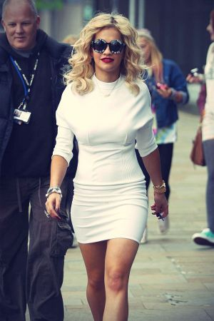 Rita Ora exits BBC Breakfast and arrives at Key 103