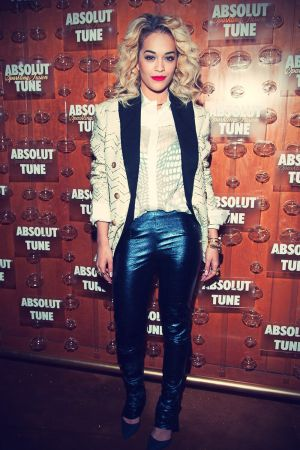 Rita Ora keeps at the Absolut Tune Launch Party