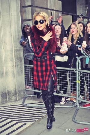 Rita Ora leaves BBC Studios 2