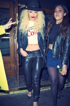 Rita Ora leaves the Groucho members club in Soho