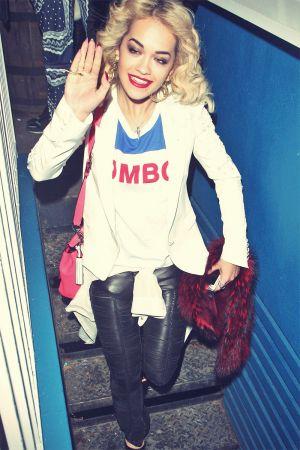 Rita Ora leaves the ITV studios