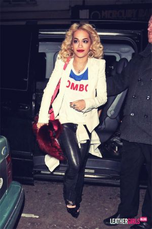 Rita Ora leaves the Village Bicycle X Rum Kitchen Valentines Day Party