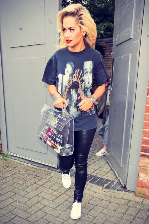 Rita Ora leaving a photo studio in London