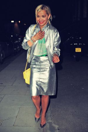 Rita Ora leaving a Recording Studio