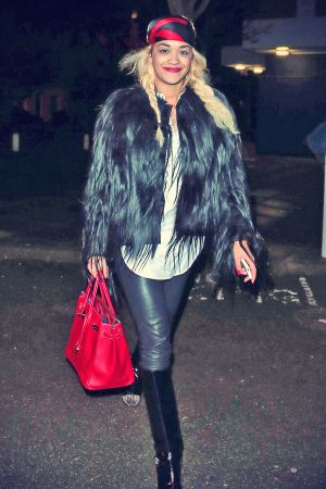 Rita Ora leaving a small West London restaurant