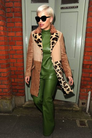 Rita Ora leaving a studio in London