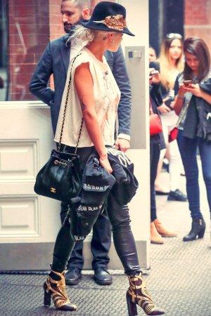 Rita Ora leaving her hotel in New York