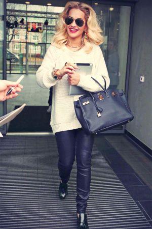 Rita Ora leaving the Fernsehwerft Studios in Berlin