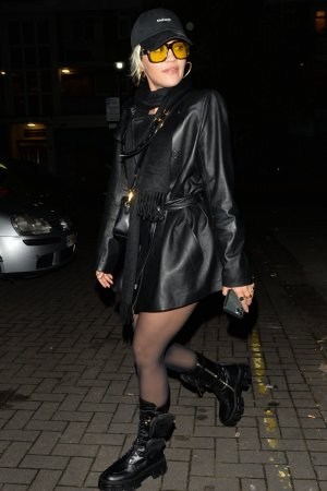 Rita Ora leaving Vas J. Morgans Birthday party
