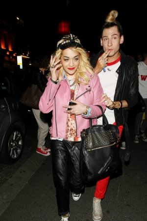Rita Ora Out With Friends