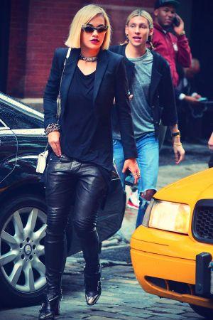 Rita Ora Photoshoot on a Soho street in NYC