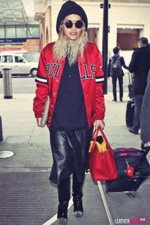 Rita Ora rocks a Chicago Bulls jacket