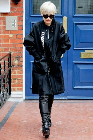 Rita Ora seen leaving her home in Notting Hill