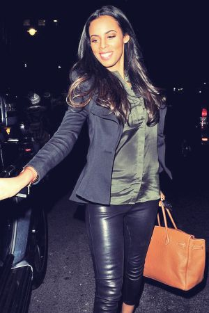 Rochelle Humes leaves the Mayfair Hotel