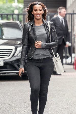 Rochelle Humes leaving the ITV studios