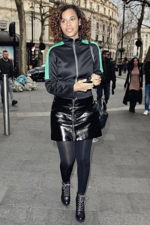 Rochelle Humes seen at Global Radio Studios