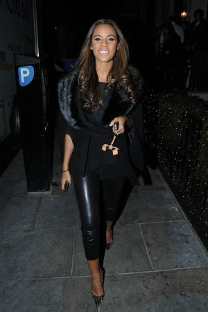 Rochelle Wiseman visits Una Healey's Baby Shower Party at Mortons in London