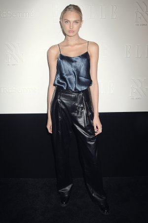 Romee Strijd attends Elle IMG party
