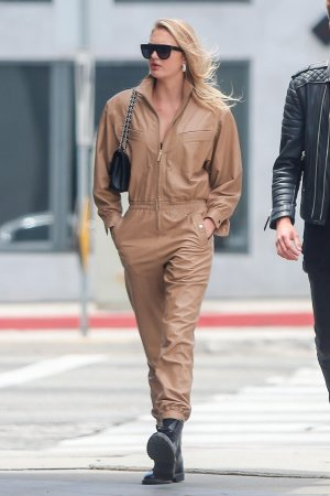 Romee Strijd out for lunch in LA