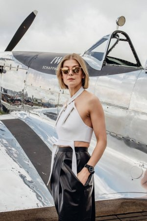 Rosamund Pike attends Celebration of the official start of the Silver Spitfire