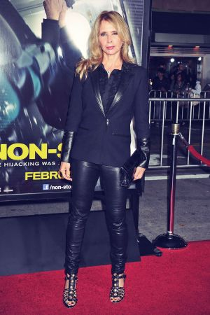 Rosanna Arquette arrives at the Los Angeles premiere of Non-Stop