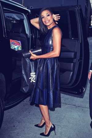 Rosario Dawson leaves Jimmy Kimmel Live!