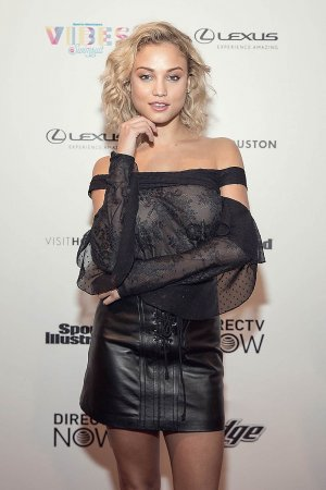 Rose Bertram at the VIBES by Sports Illustrated Swimsuit 2017 launch festival