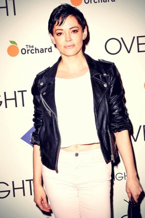 Rose McGowan attends The Overnight NY Premiere