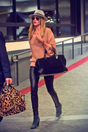 Rosie Huntington Whiteley Arrives at LAX
