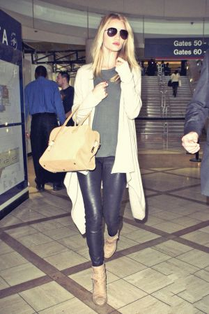 Rosie Huntington-Whiteley arriving at LAX Airport